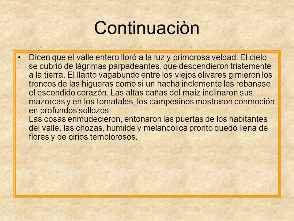 Continuaciòn