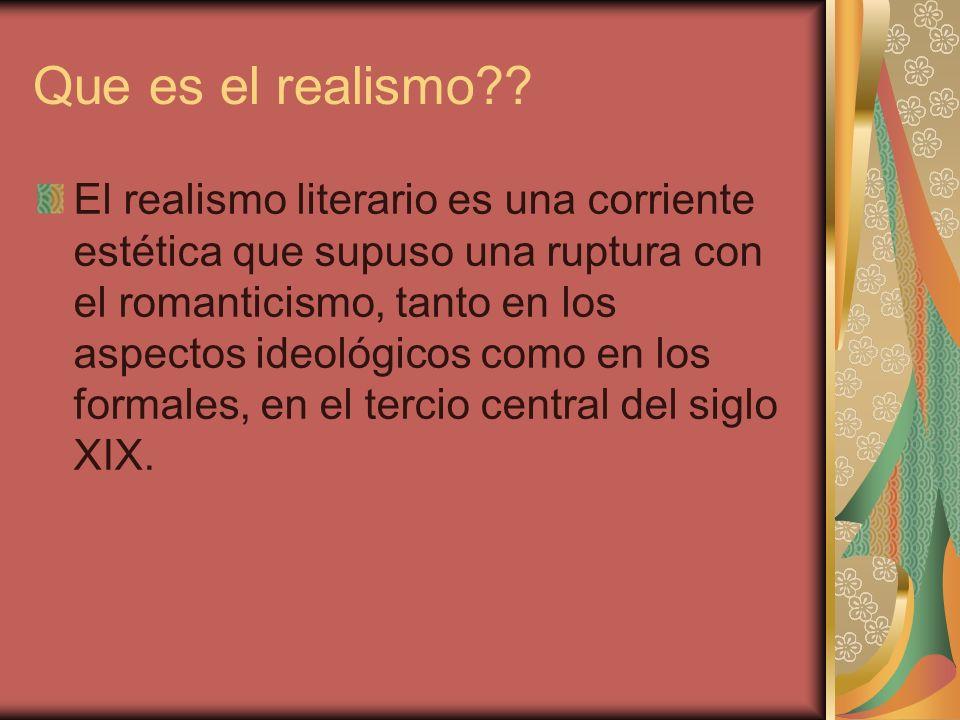 Que es el realismo