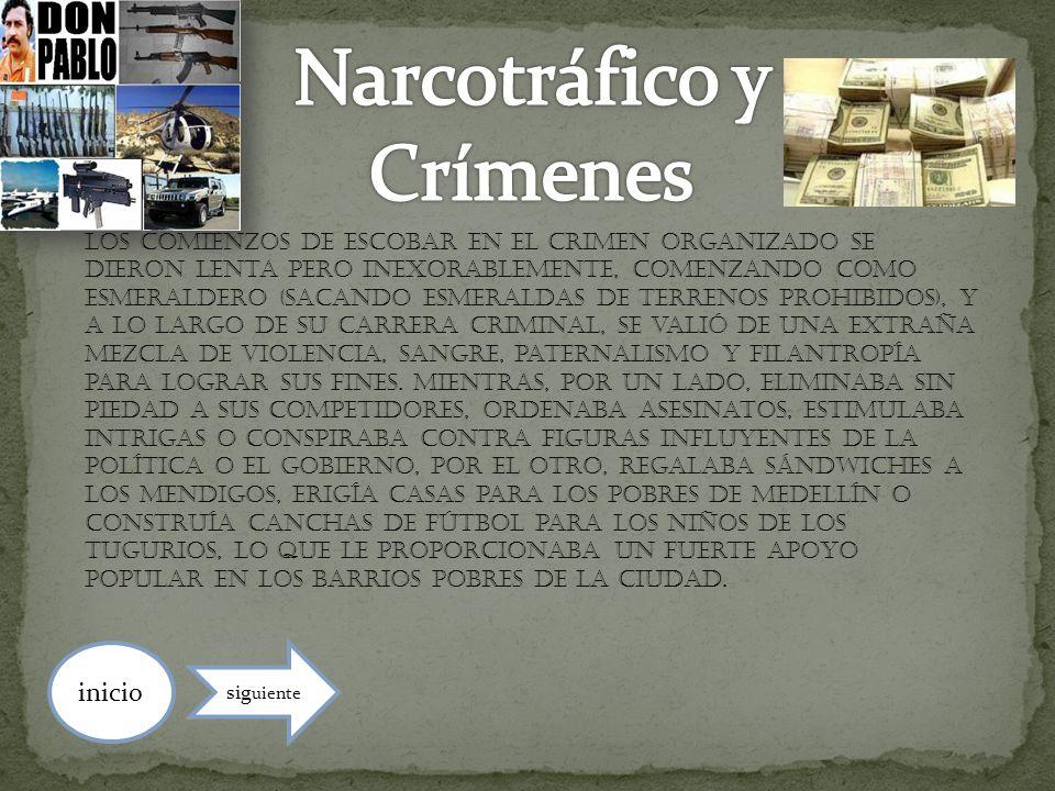 Narcotráfico y Crímenes