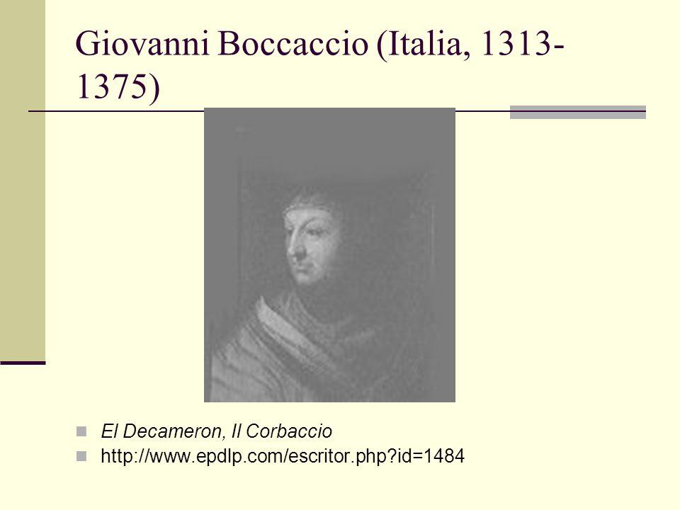 Giovanni Boccaccio (Italia, 1313-1375)
