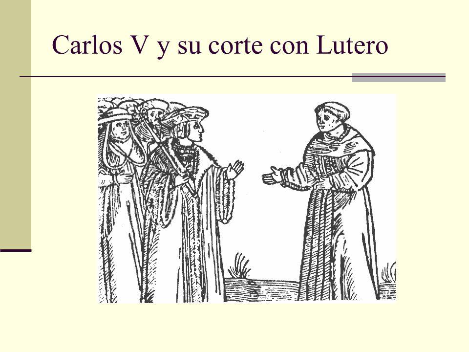 Carlos V y su corte con Lutero