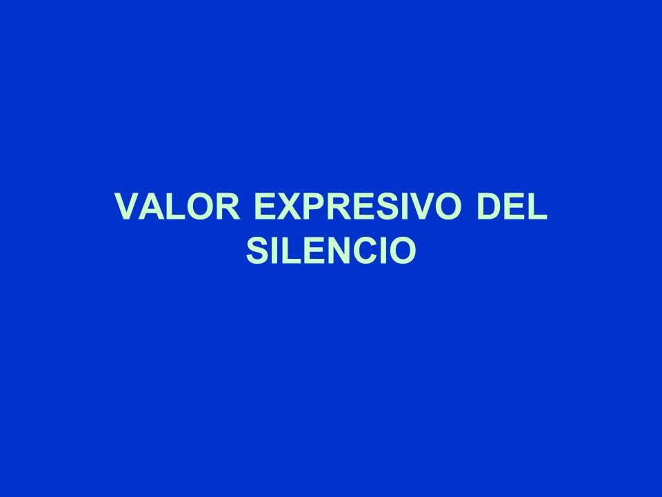 VALOR EXPRESIVO DEL SILENCIO