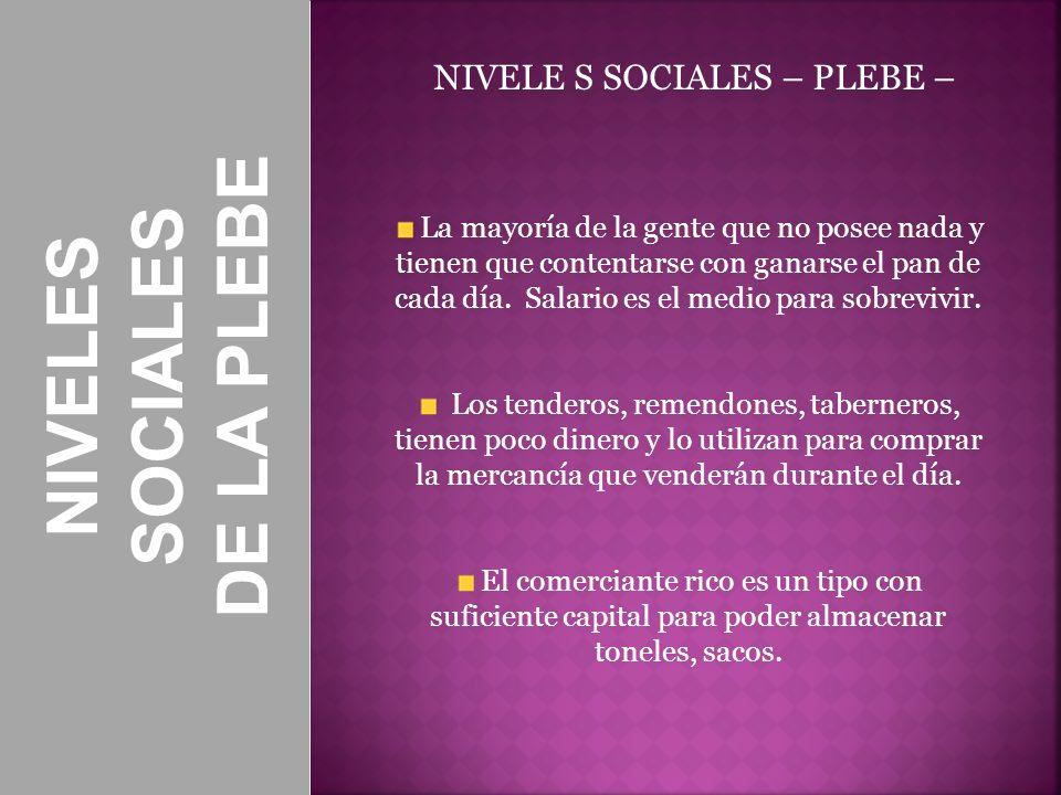 DE LA PLEBE SOCIALES NIVELES