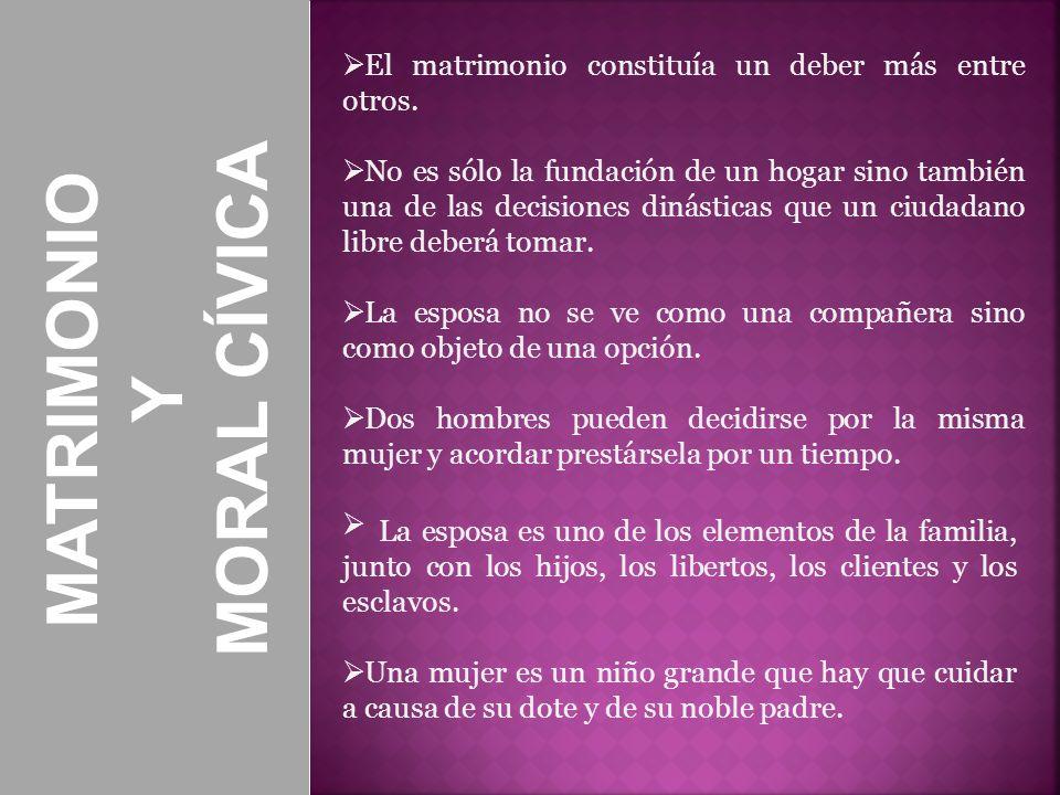 MORAL CÍVICA MATRIMONIO Y
