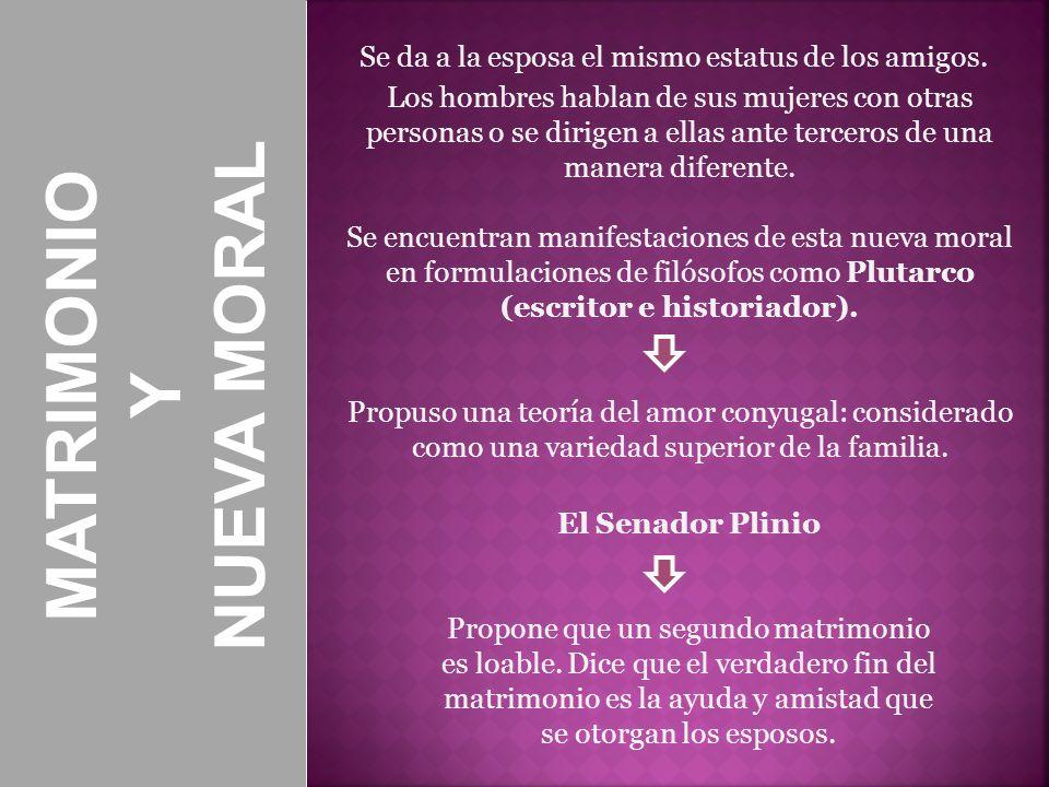 NUEVA MORAL MATRIMONIO Y