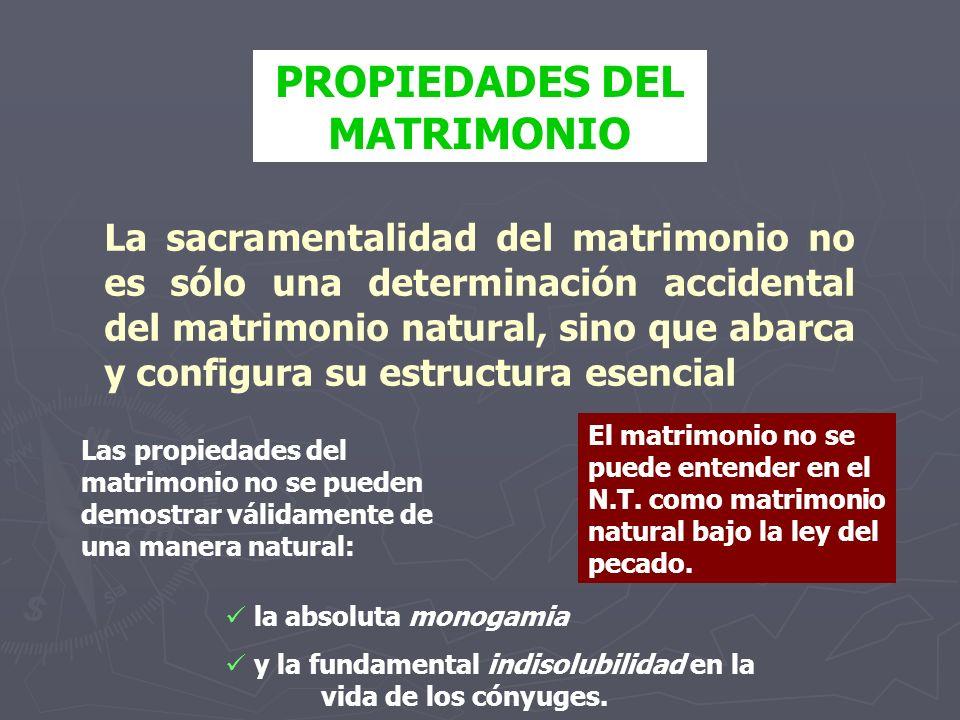 PROPIEDADES DEL MATRIMONIO