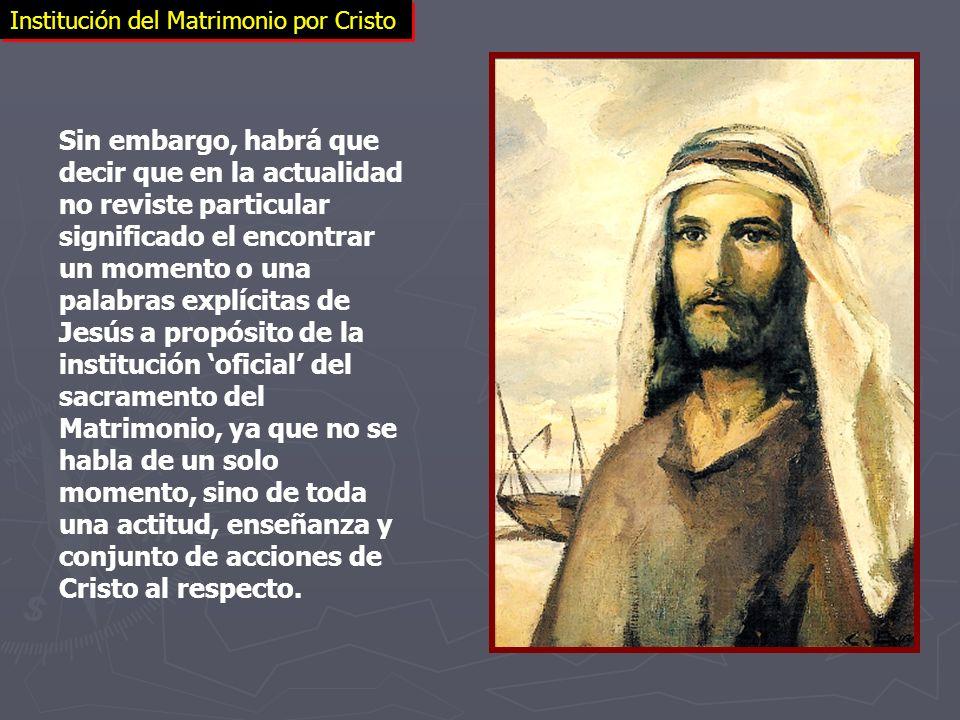 Institución del Matrimonio por Cristo