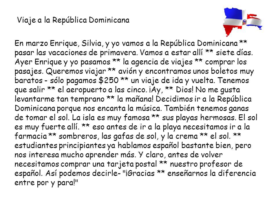 Viaje a la República Dominicana