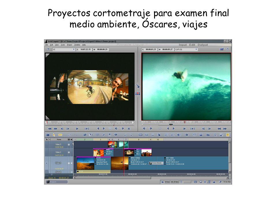 Proyectos cortometraje para examen final medio ambiente, Óscares, viajes