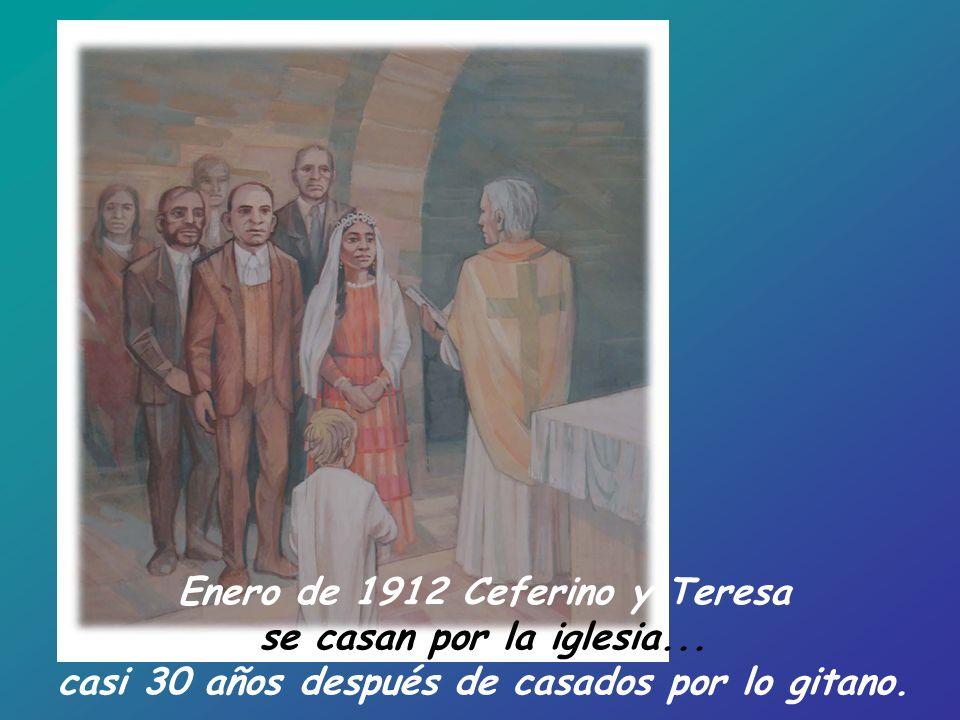 Enero de 1912 Ceferino y Teresa se casan por la iglesia...