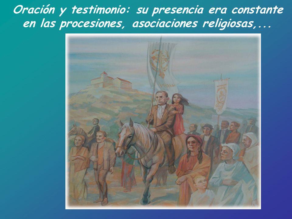Oración y testimonio: su presencia era constante
