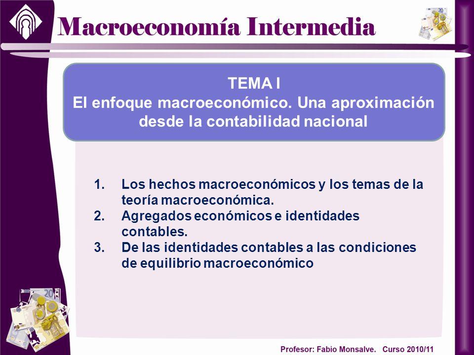 TEMA I El enfoque macroeconómico. Una aproximación desde la contabilidad nacional.