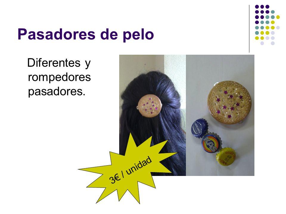 Pasadores de pelo Diferentes y rompedores pasadores. 3€ / unidad
