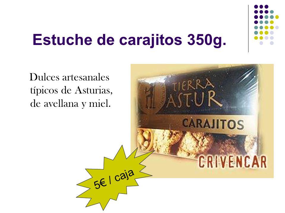 Estuche de carajitos 350g. 5€ / caja