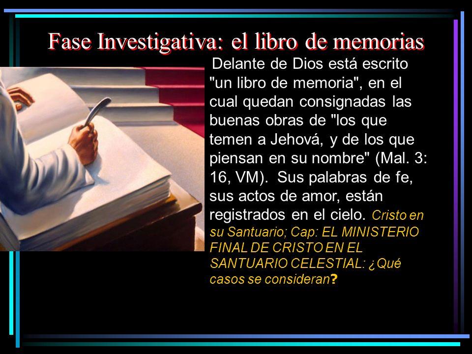 Fase Investigativa: el libro de memorias