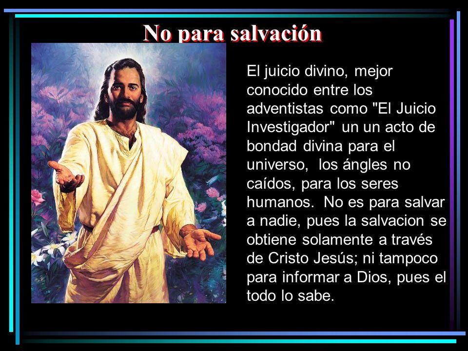 No para salvación