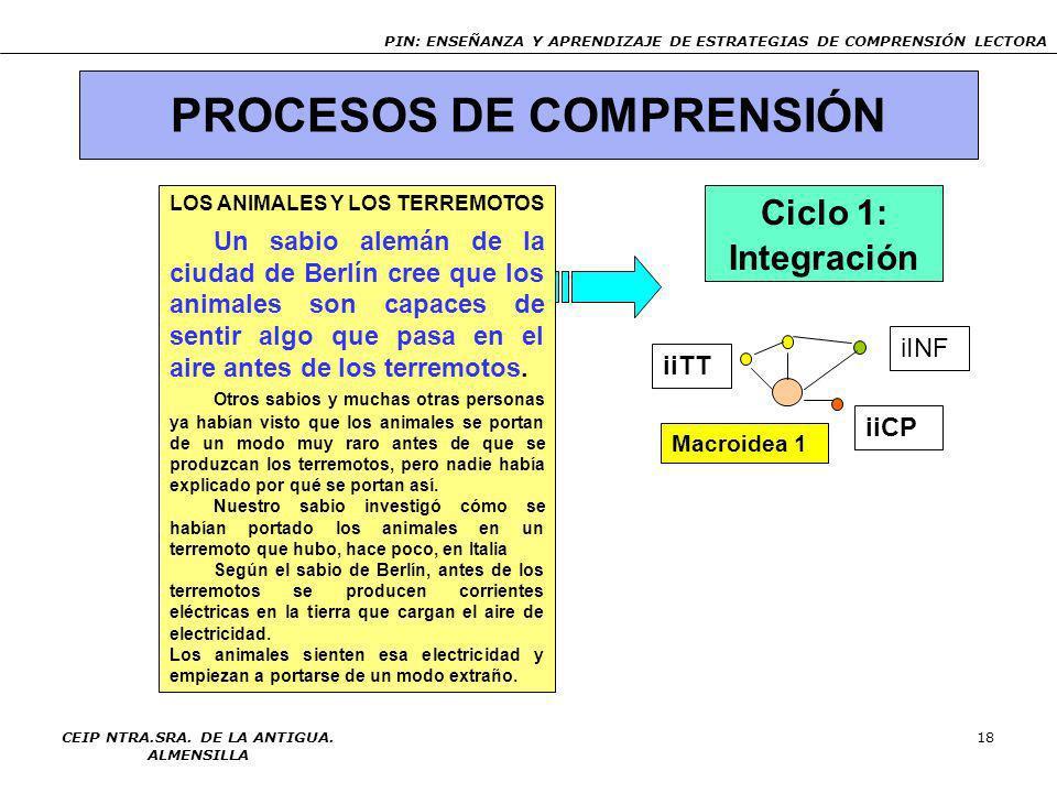 PROCESOS DE COMPRENSIÓN