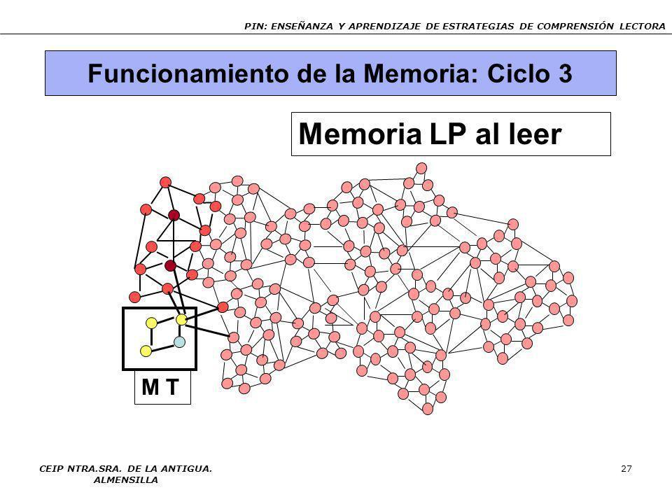 Memoria LP al leer Funcionamiento de la Memoria: Ciclo 3 M T