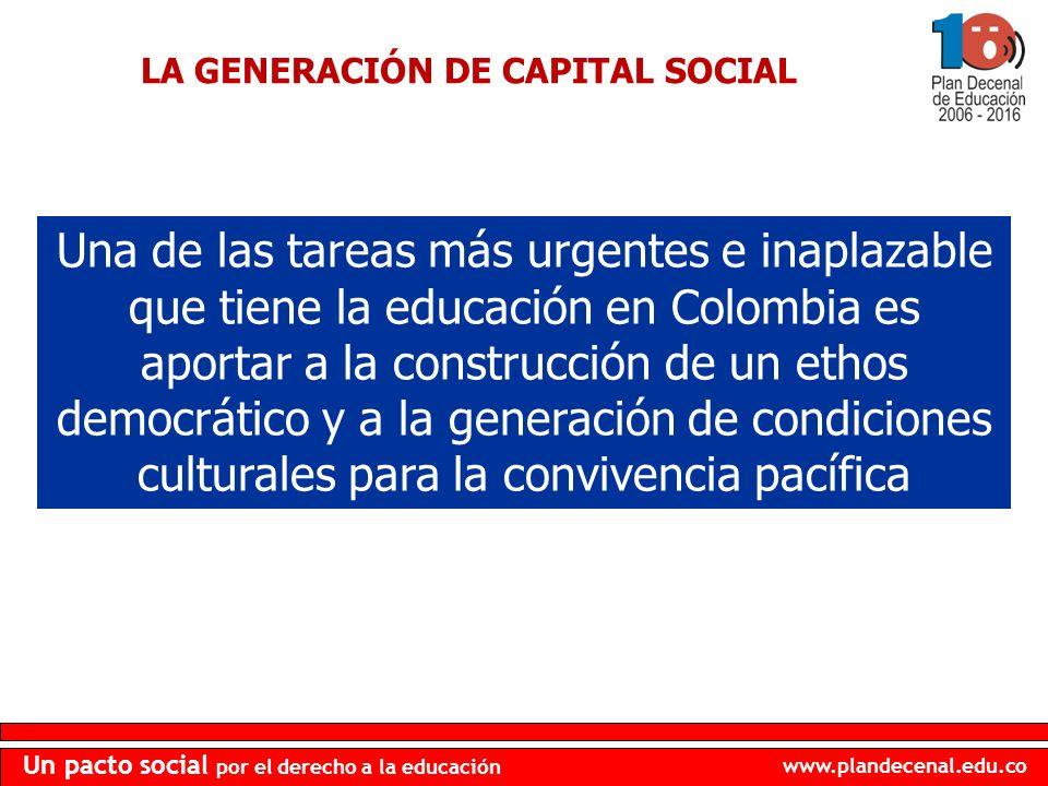 LA GENERACIÓN DE CAPITAL SOCIAL