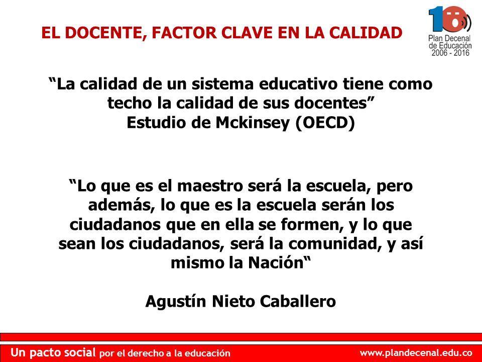 EL DOCENTE, FACTOR CLAVE EN LA CALIDAD