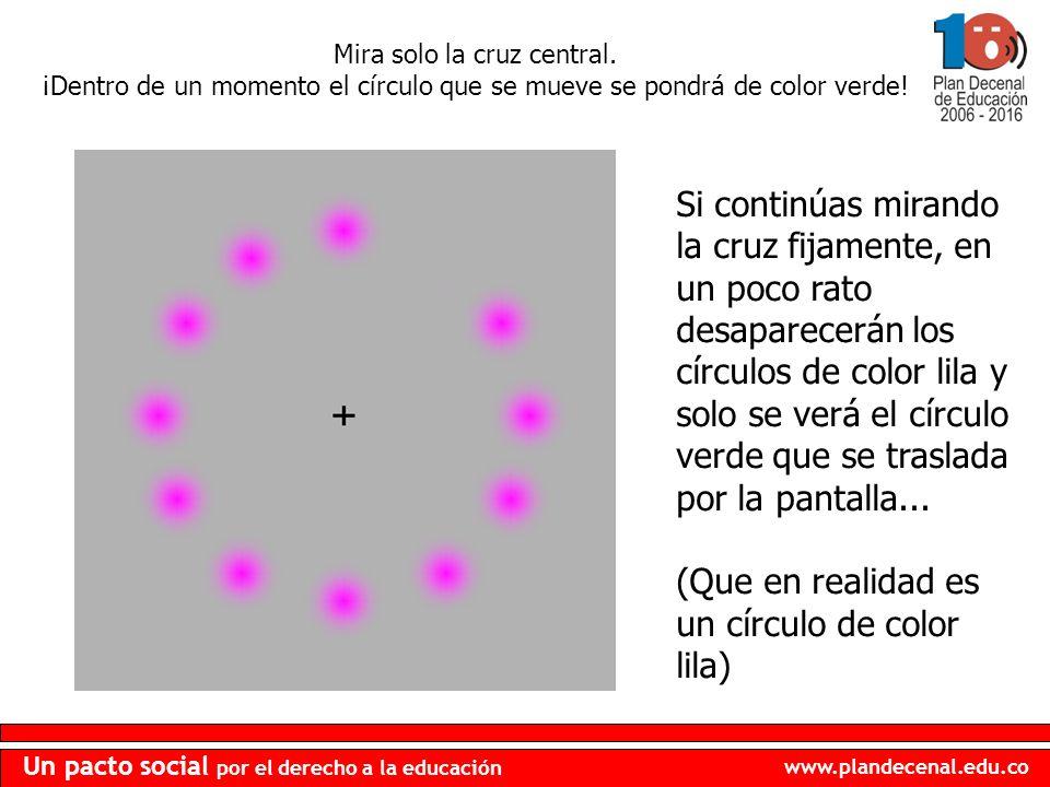 (Que en realidad es un círculo de color lila)