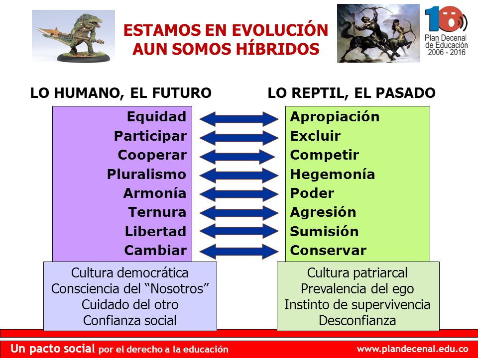 ESTAMOS EN EVOLUCIÓN AUN SOMOS HÍBRIDOS