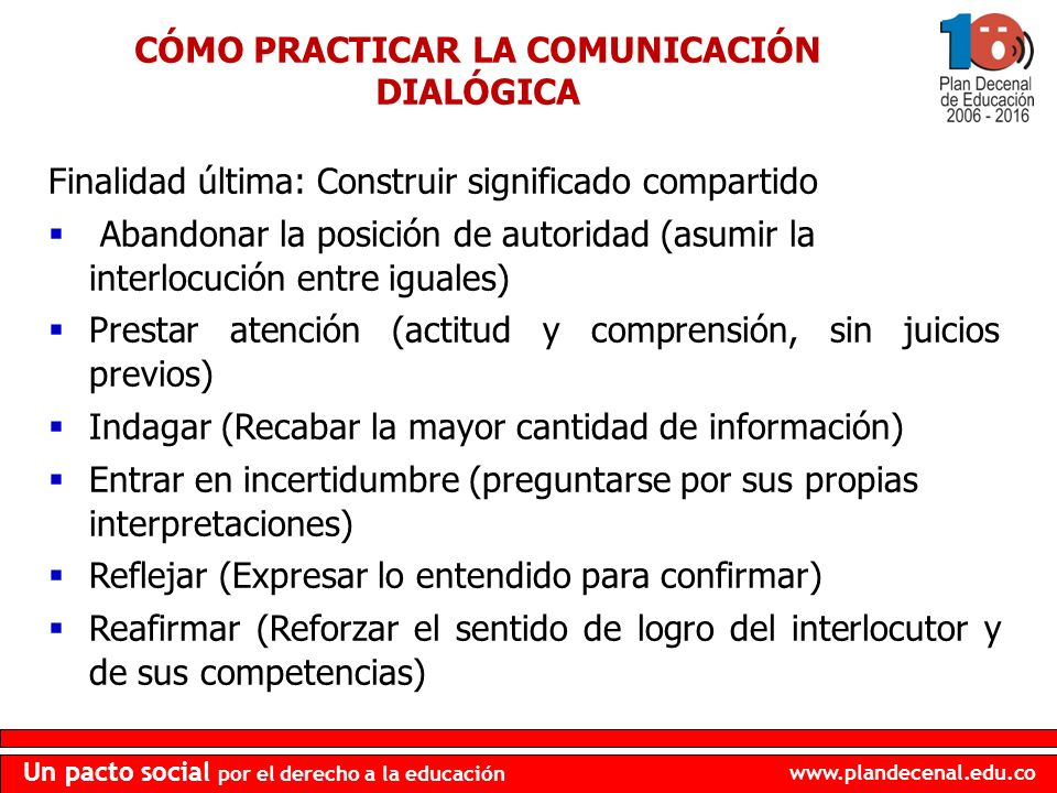 CÓMO PRACTICAR LA COMUNICACIÓN DIALÓGICA