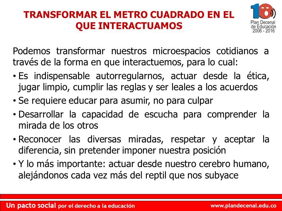 TRANSFORMAR EL METRO CUADRADO EN EL QUE INTERACTUAMOS