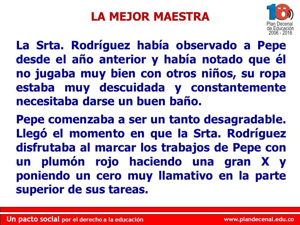 LA MEJOR MAESTRA
