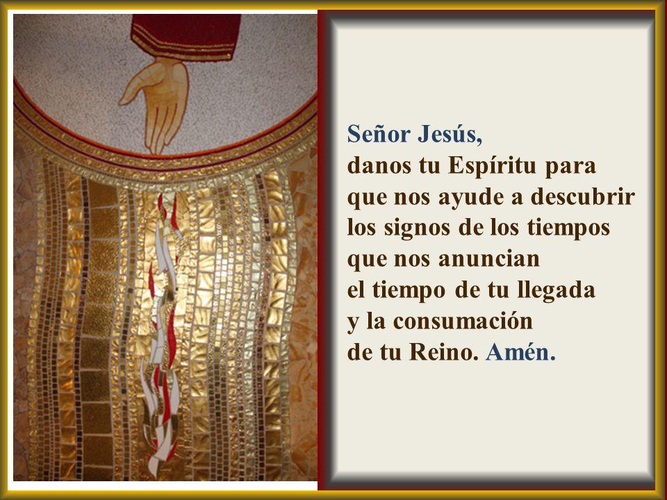 Señor Jesús, danos tu Espíritu para que nos ayude a descubrir. los signos de los tiempos que nos anuncian.