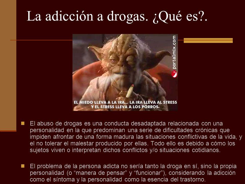La adicción a drogas. ¿Qué es .