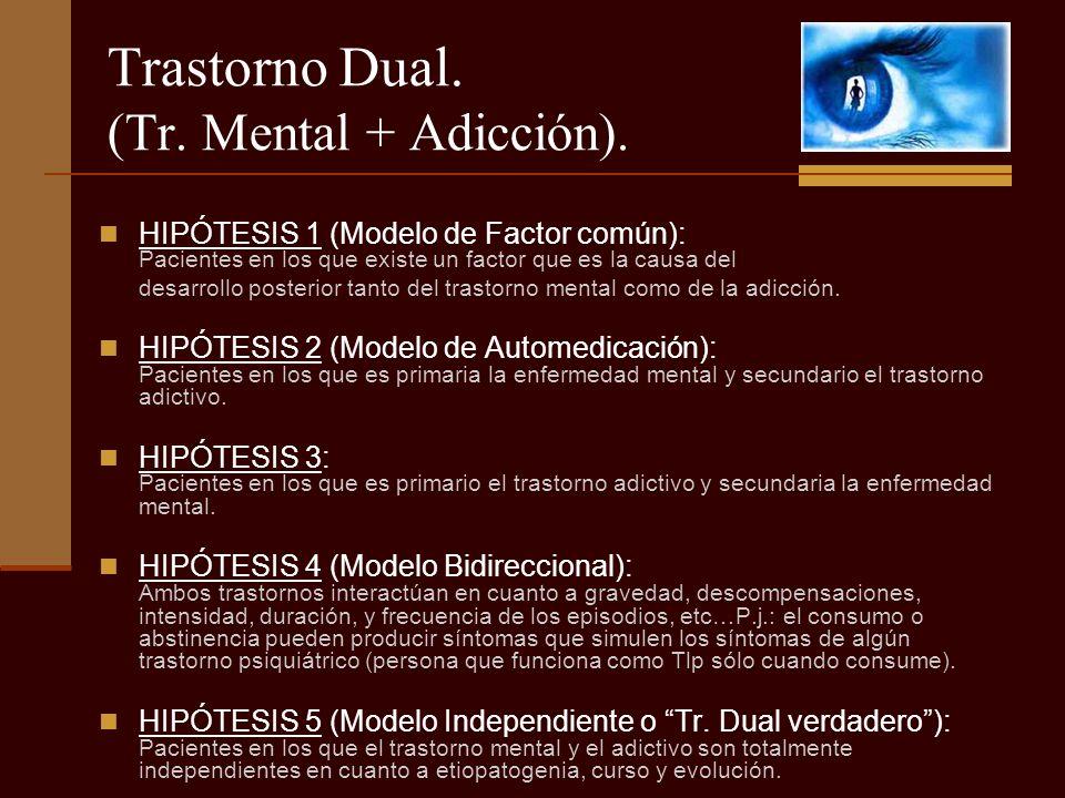 Trastorno Dual. (Tr. Mental + Adicción).