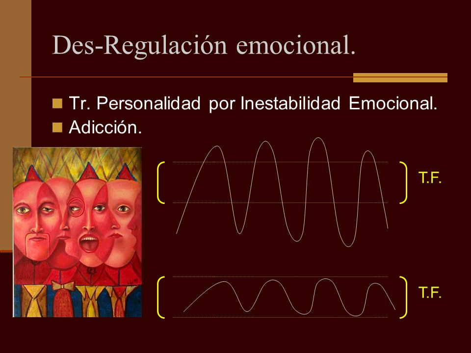 Des-Regulación emocional.