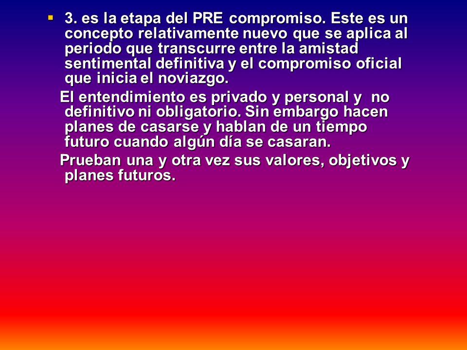 3. es la etapa del PRE compromiso