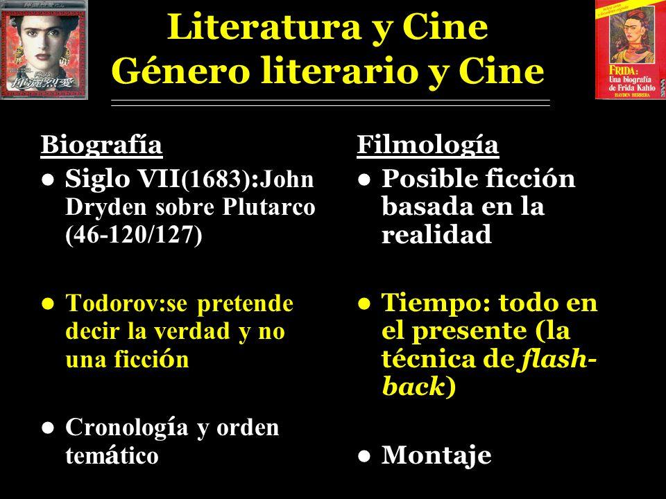 Literatura y Cine Género literario y Cine