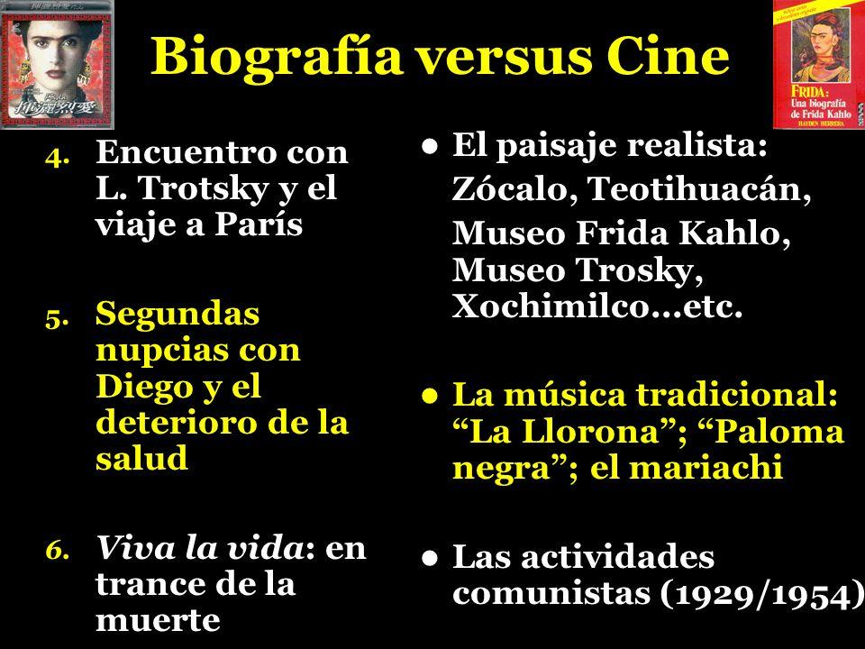 Biografía versus Cine El paisaje realista: