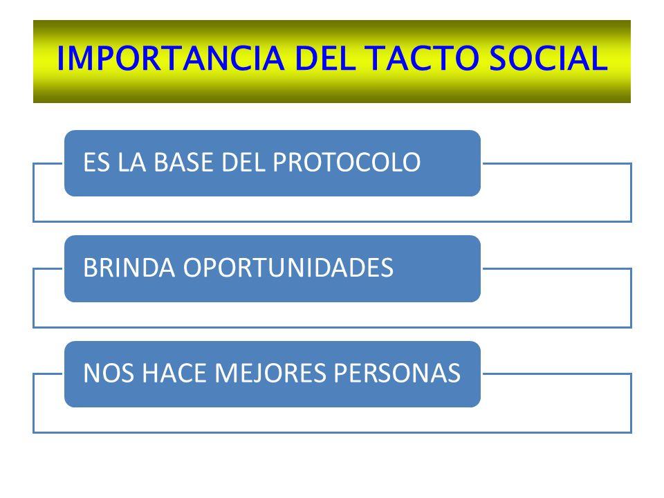 IMPORTANCIA DEL TACTO SOCIAL