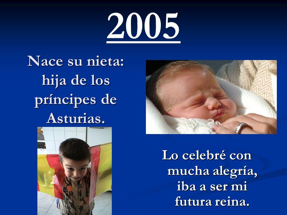 Nace su nieta: hija de los príncipes de Asturias.