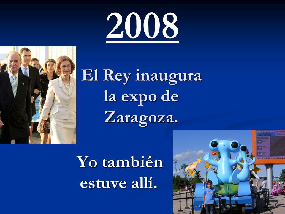 El Rey inaugura la expo de Zaragoza.