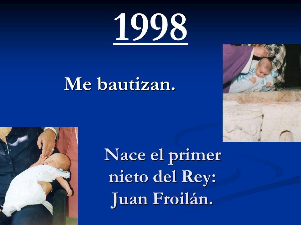 Nace el primer nieto del Rey: Juan Froilán.