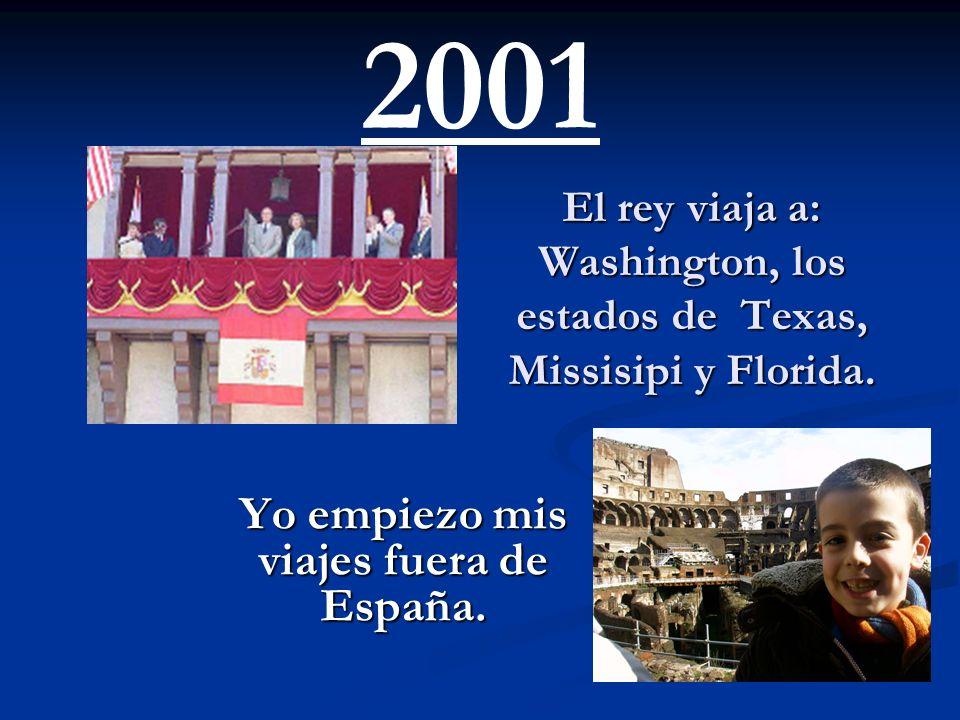 El rey viaja a: Washington, los estados de Texas, Missisipi y Florida.