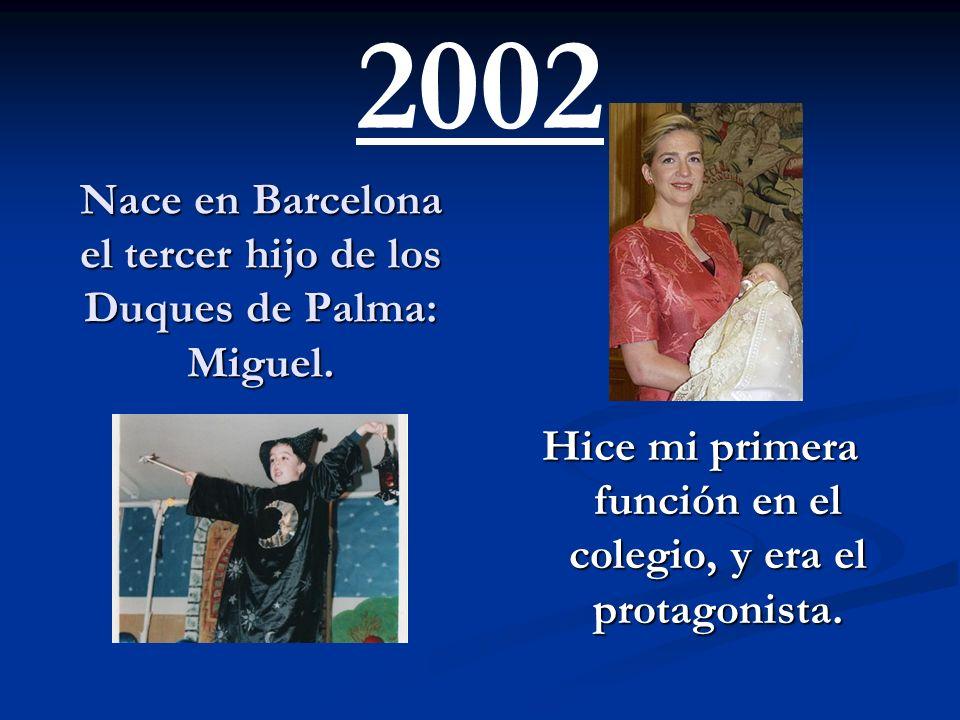 Nace en Barcelona el tercer hijo de los Duques de Palma: Miguel.