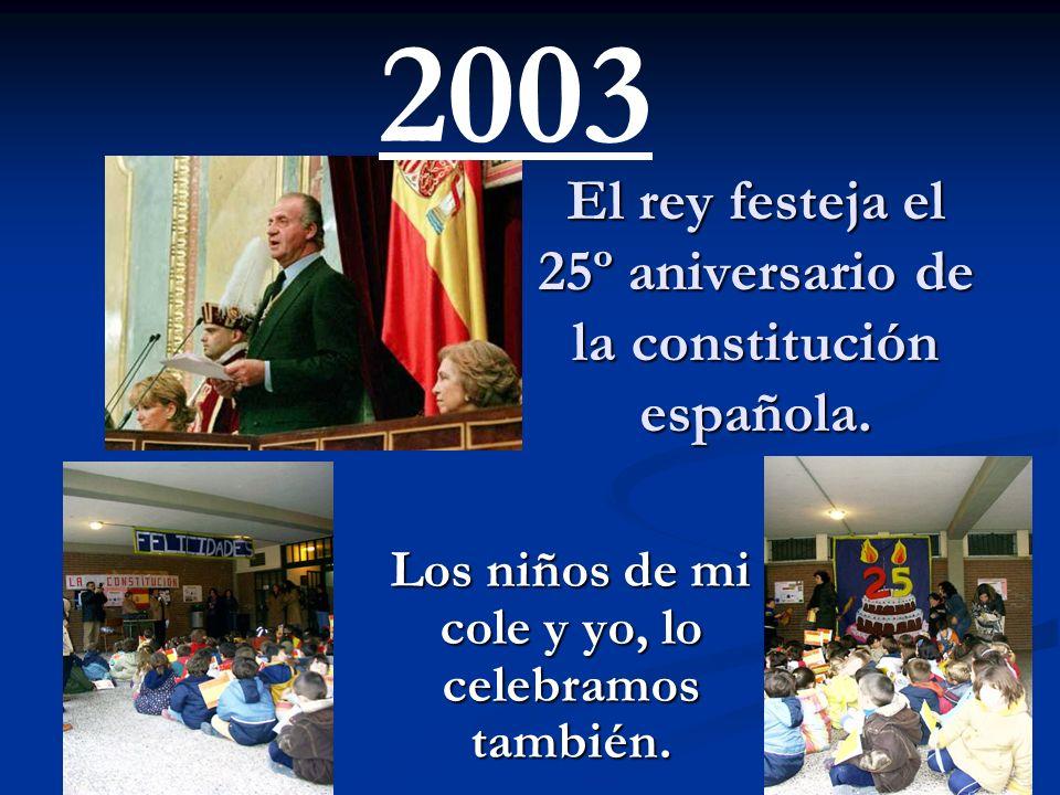 El rey festeja el 25º aniversario de la constitución española.