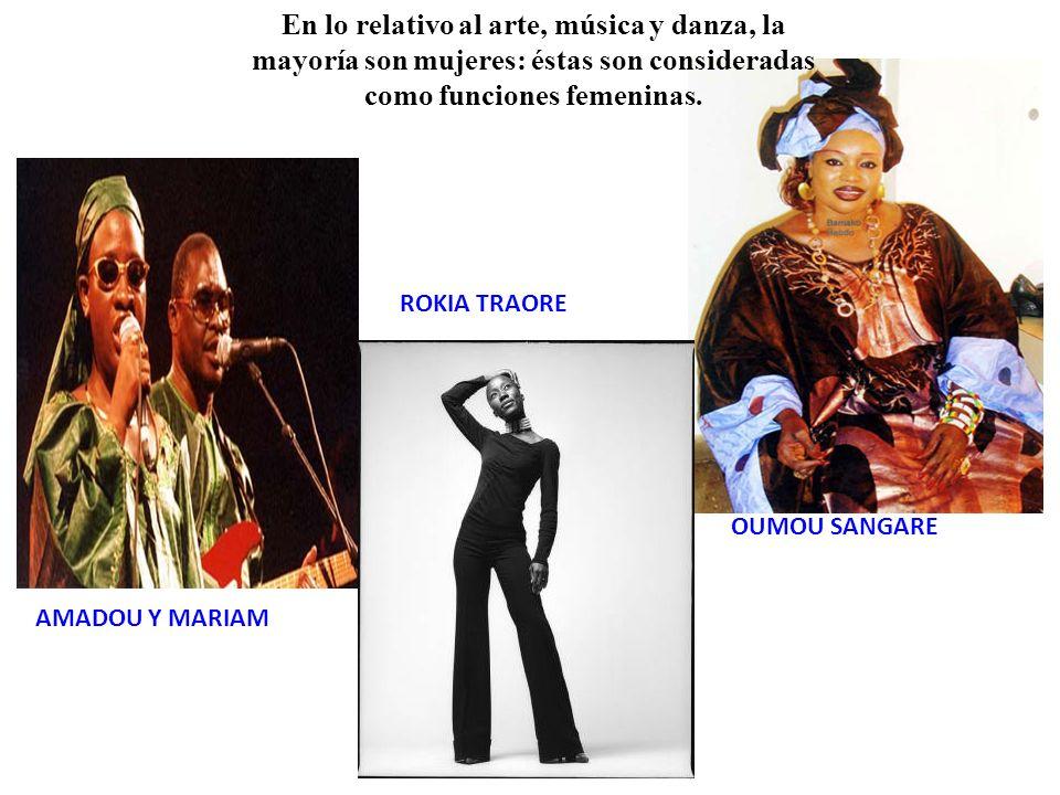 En lo relativo al arte, música y danza, la mayoría son mujeres: éstas son consideradas como funciones femeninas.