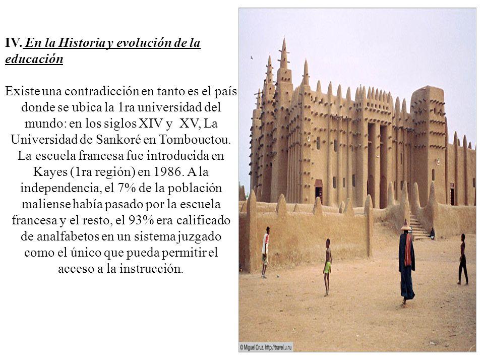 IV. En la Historia y evolución de la educación