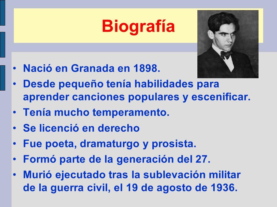 Biografía Nació en Granada en 1898.