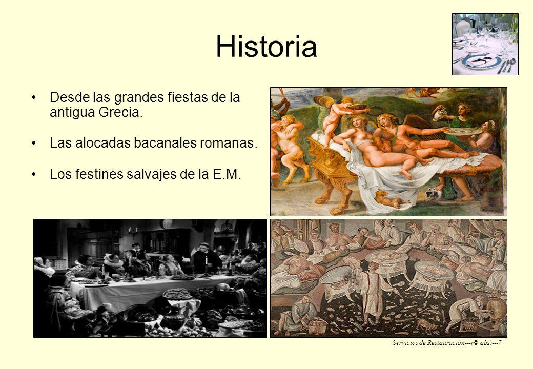 Historia Desde las grandes fiestas de la antigua Grecia.