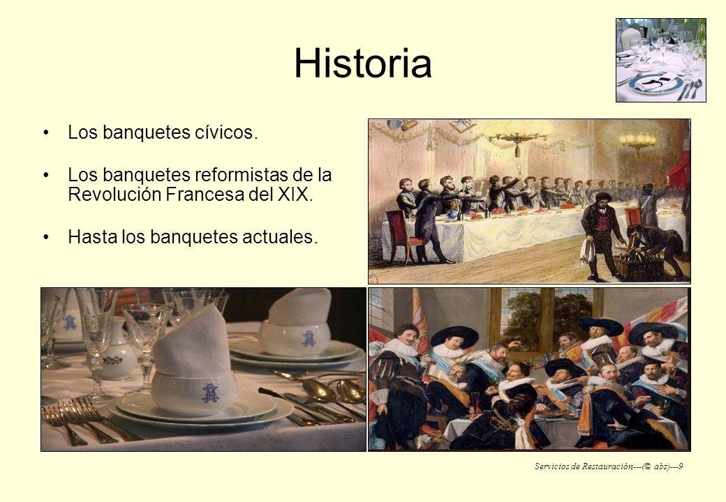 Historia Los banquetes cívicos.