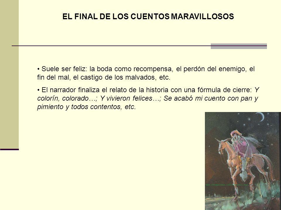 EL FINAL DE LOS CUENTOS MARAVILLOSOS