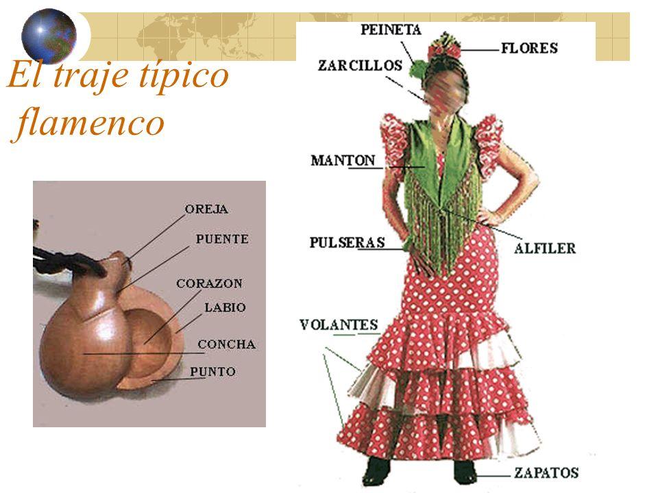 El traje típico flamenco